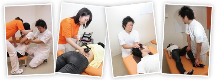 股関節の痛みの施術